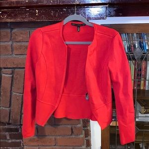 White House Black Market Red sweater blazer